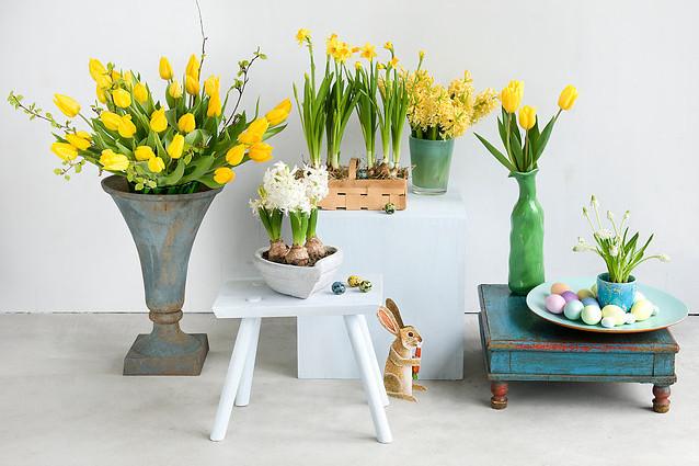 Delikatne dekoracje kwiatowe na Wielkanoc
