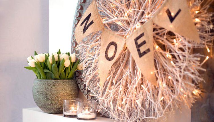 Boże Narodzenie w bieli tulipanów i hiacyntów