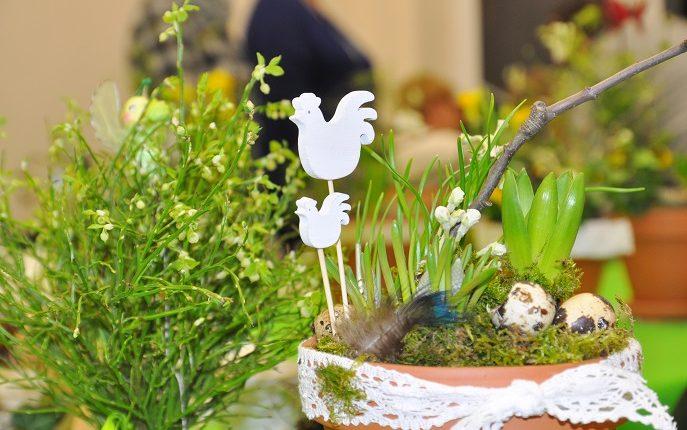 Wiosenna kompozycja na Wielkanoc
