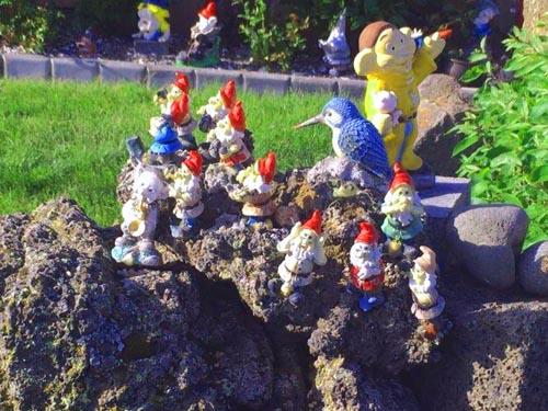 Ozdóbki w islandzkich ogrodach