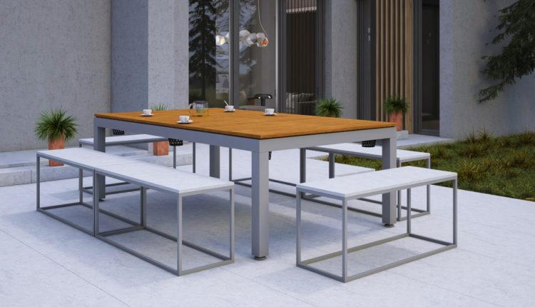 Nowoczesny stół ogrodowy 3w1 – relaks i rozrywka na świeżym powietrzu